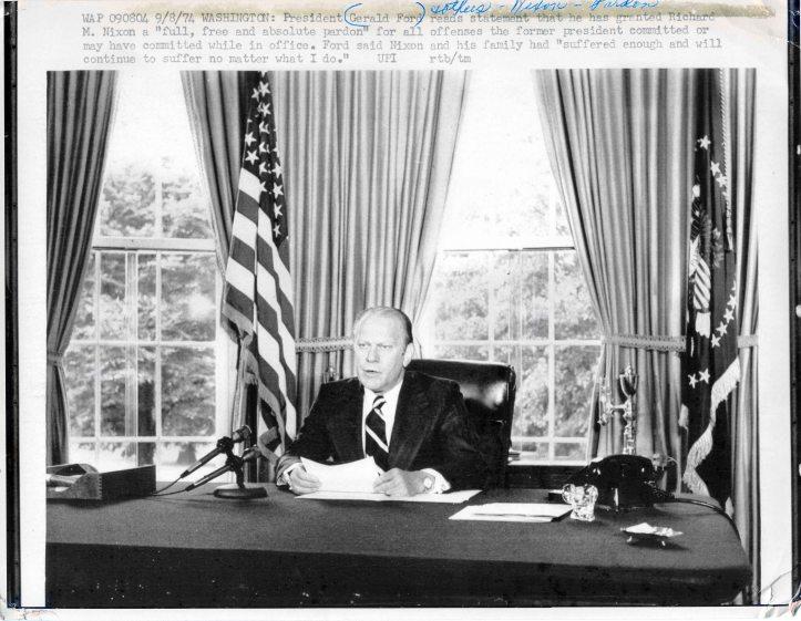 Pres. Gerald Ford pardoning Nixon D.D.Teoli Jr. A.C. (1)