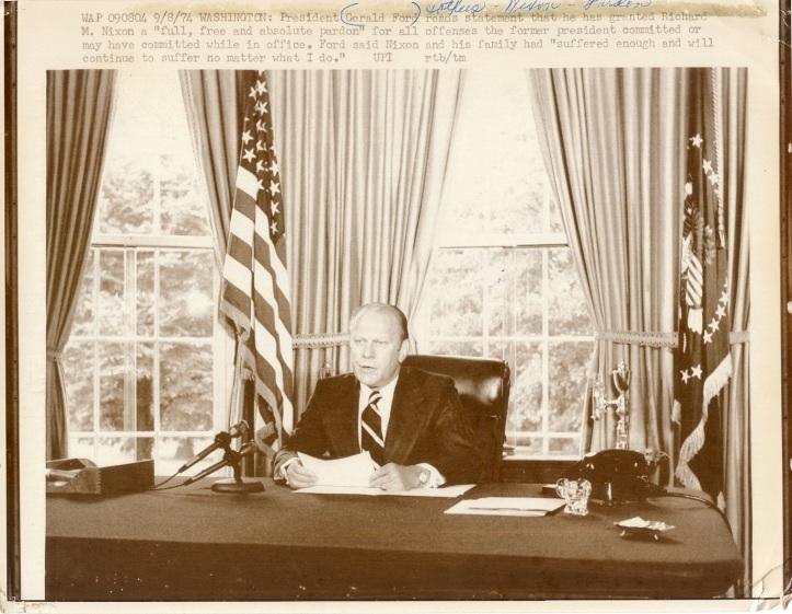 Pres. Gerald Ford pardoning Nixon D.D.Teoli Jr. A.C. (2)